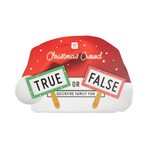 Talking Tables True or False Christmas Game - Contains 60 Double Side Question Cards and 8 paddles