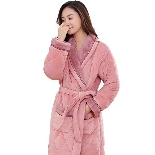 DPKDBN Badjas voor dames, badjas voor dames, plus-size, winter, badjas voor bruidsmeisjes, rozen, bruiloft
