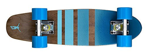Ridge Unisex-Adult Cruiser Maple Holz Mini Number Three Skateboard, Blau, 56 cm