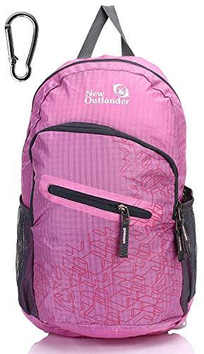 Outlander Packable Handy Lightweight Travel Backpack Daypack, Pink