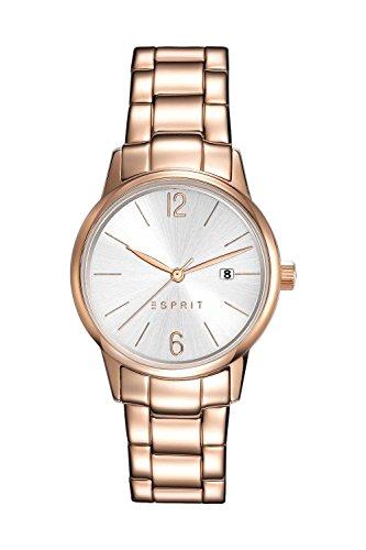 Esprit Damen-Armbanduhr ES Abbie Rose Gold Analog Quarz Edelstahl ES100S62014