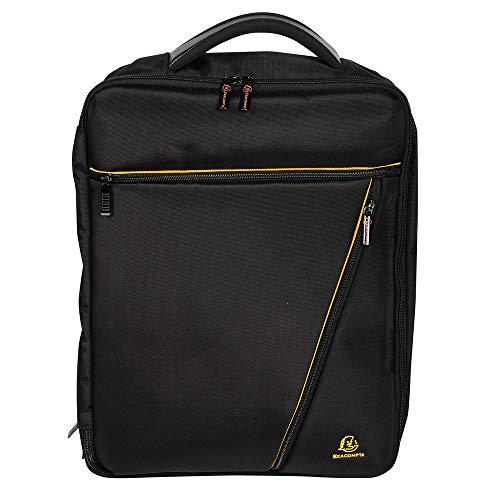 Exacompta - Réf 17734E - Sacoche - sac à dos Dual Exactive - bagagerie mixte - 2 compartiments intérieurs dont 1 renforcé pour ordinateur - couleur noir - Dimensions : 38 x 27 x 3 cm