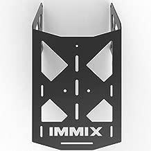 Cargo Rack Luggage Carrier Utility Rear Tail Holder Black Powdercoat fits: 90-01 Suzuki DR350 - Immix Racing - 100-010-Black