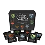 Geek Grind Whole Bean Coffee 7 Roasts Sampler Gift Box