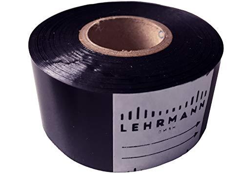 Warmtewerende folie (3 stuks) drukfolie thermotransferfolie zwart breedte 40 mm x lengte 244 m