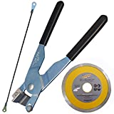 Manual Tile And Glass Cutter Kit Cut Square Hole in Ceramic and Porcelain for Outlets with Pocelain Cutting Disc for Angle Grinder RodSaw for Hacksaw for Notches
