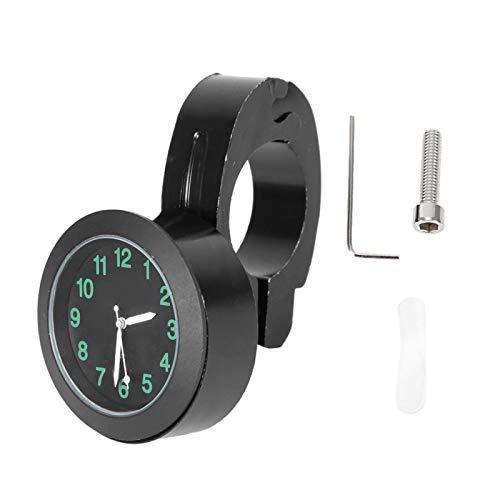 Qiilu Moto Reloj Universal Moto Soporte para Manillar Reloj Metal Hand Grip Bar Reloj Accesorio(Negro)