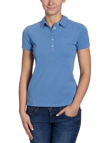 Marc O'Polo Damen Poloshirt 203 2043 53049, Gr. 40 (L), Blau (858 Hyacinth)