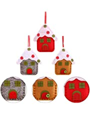 KESYOO Christmas Tree Pendant Church Snow House Adornment Xmas Tree Decorations Christmas Gift 3Pcs