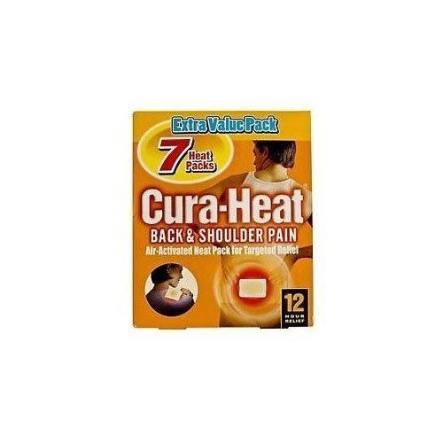 Cura Heat Back Shoulder Pain 4 Pack X 2