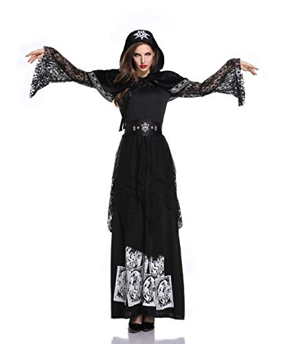 NAXIAOTIAO Vestido para Halloween Adulto Vampiro Sirviendo Earl, falda de princesa de bruja, vampiro sirviendo Earl, L