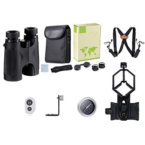 Prismáticos HD de 10 x 42 para Adultos, prismáticos compactos con Adaptador de teléfono Inteligente, para observación de Aves, Caza, Eventos Deportivos, Viajes, Aventuras y conciertos