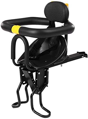 Asiento delantero de bicicletas bebé niños niño Carrier Safety Asiento delantero del asiento de bicicleta for niños Cojín de silla de montar con Respaldo Pedales adecuado for la mayoría Bicicletas 624