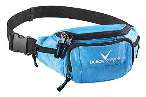 Black Crevice–Marsupio, Unisex, Hüfttasche, Blu, 26 x 6 x 11 cm, 2 Liters