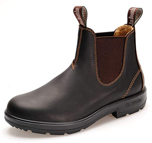 Jim Boomba Town & Country Chelsea Boots | Australian Style | Dark Brown (43.5 EU / 09.5 UK, Dark Brown)