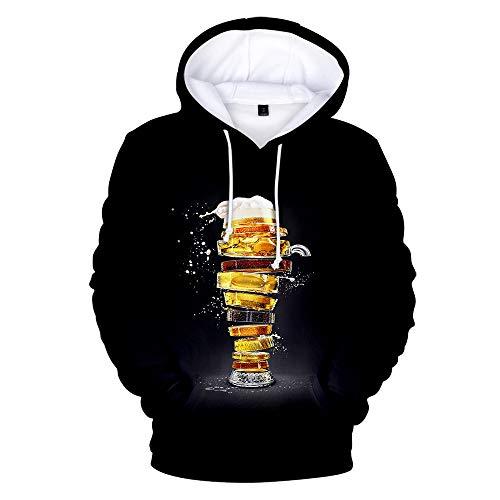 Unisex Hoodies Men Women 3D Ice Cream Pieces Print Pullover Long Sleeve Cardigan Couple Sweatshirts Uniform Jumpers Outdoor Leisure Clothing,XXS