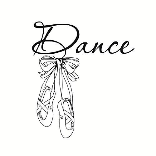 Kunst Design Tanz Wandaufkleber Ballett Schuhe Ballerina Gym Mädchen Schlafzimmer Home Decor Vinyl Kleber Wandtattoos Für Kinderzimmer 58 Cm X 66 Cm