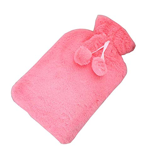 New [Pink-1] Big Hot Water Bottle Cute Hot Water Bag Hot Water Bottle with Cover