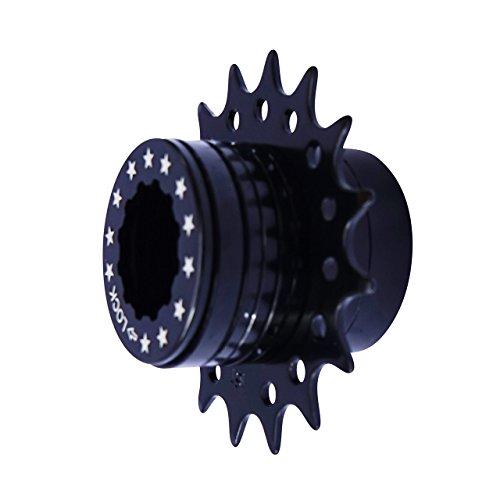 Bike Single Speed Fixie Kassette Conversion Kit kompatibel Shimano 18T Farben (schwarz)
