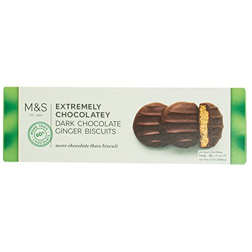 Marks & Spencer Extremely Chocolatey Dark Chocolate Ginger Rounds Biscuits Cookies 200g