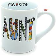 "Our Name is Mud ""Favorite Aunt"" Cuppa Doodle Porcelain Mug, 16 oz."