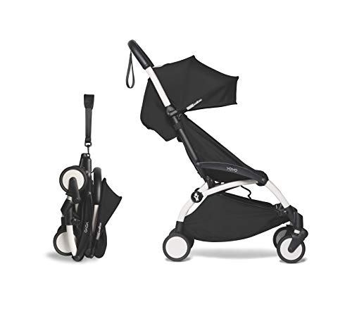 Babyzen YOYO2 Stroller - White Frame with Black Seat Cushion & Canopy