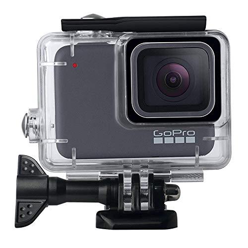 Leegoal Waterdichte behuizing voor GoPro Hero 7 zilver/wit, 45 m doorzichtige onderwaterduikbehuizing met Quick Release halsaccessoires en schroevendraaier voor GoPro Hero 7 actiecamera