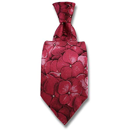 Robert Charles - Cravate Hydrangea Fuchsia