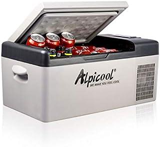 Alpicool C15 Portable Refrigerator 16 Quart(15 Liter) 12 Volt Fridge Freezer for Car, Vehicle, Truck, RV, Boat, Mini fridge freezer for Driving, Travel, Fishing, Outdoor, Home -12/24V DC and 110-240V AC