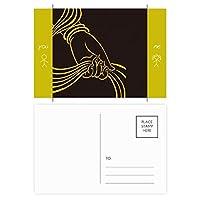 仏教の宗教の手のスカーフ・パターン 友人のポストカードセットサンクスカード郵送側20個