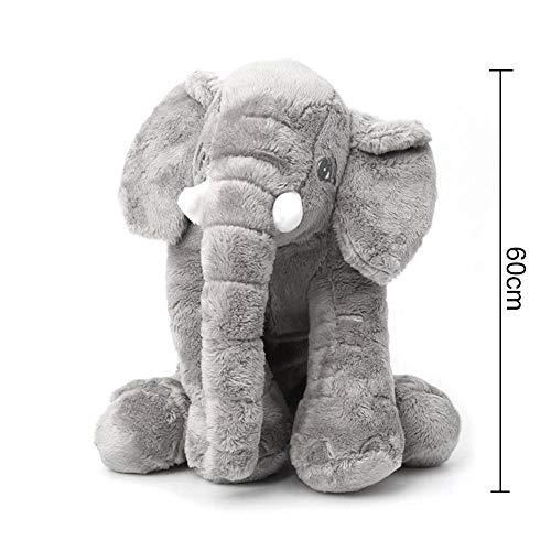 Onlyonehere Elefant Kuscheltier,60cm Plüschtier Groß Grau Geschenk Für Kinder