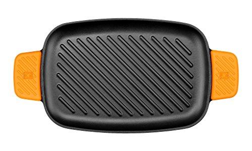 BRA Efficient Iron Parrilla Rectangular Con Rayas,, 35 cm