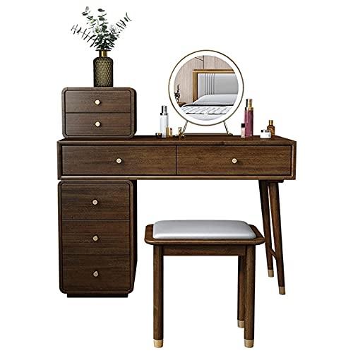 Tovaglia Tabella di spogliatoio, l'uso del legno di noce di Okoume non è facile da deformare la toletta, cassetti di grande capacità, grandi armadi, layout trasparente, appy in camera da letto