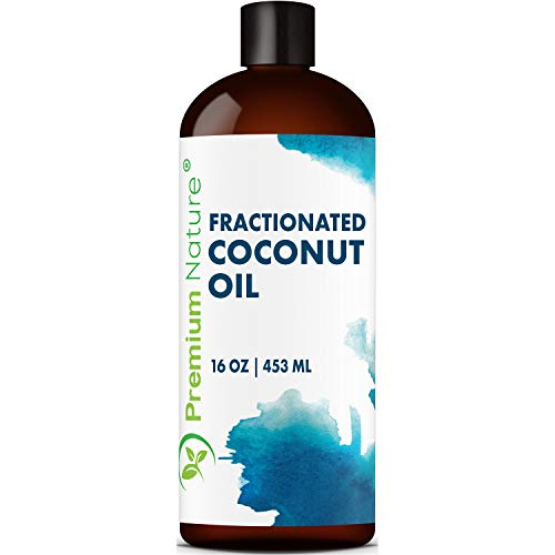 Fractionated Coconut Oil Massage Oil - Cold Pressed Pure MCT Oil for Essential Oils Mixing Dry Skin Moisturizer Natural Carrier Baby Oil for Face Hair & Body Therapeutic Packaging May Vary 16 oz