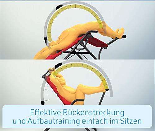 Mediashop BackLounge   Inversions-Rücken-Trainer   Inversionsbank   Streckung der Wirbelsäule   bis zu 110 kg dynamisch, 250 kg statisch belastbar   integrierte Massagerollen   zusammenklappbar - 9
