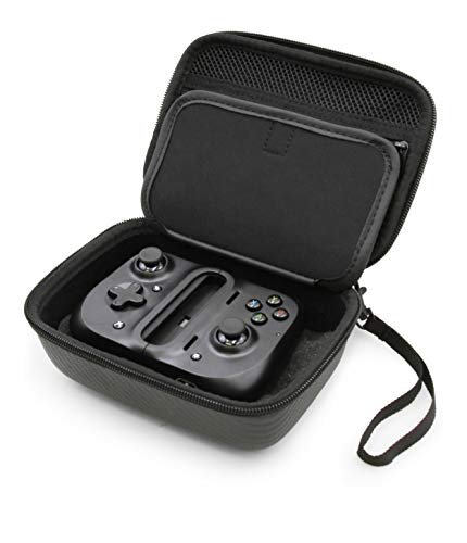 Casematix Portable Gaming Case Compatible with The Razer Kishi Universal Mobile Controller and Select Accessories – Includes Black Carry Case Only