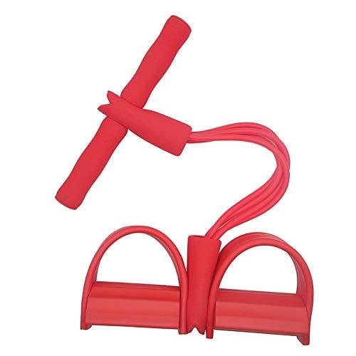 Huante rotes elastisches Sit Up Pull Seil Bauchtrainer Home Sport Equipment Pull Convenient Seilpedal Knöchel Puller Indoor