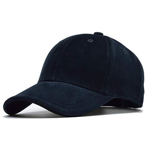 PPSTYLE Haute qualité 100% Coton Bonnet d'hiver Soild Casquette de Baseball de Marque Hommes Unisexe Snapback Chapeaux OS Masculino Trucker Cap-Darkblue