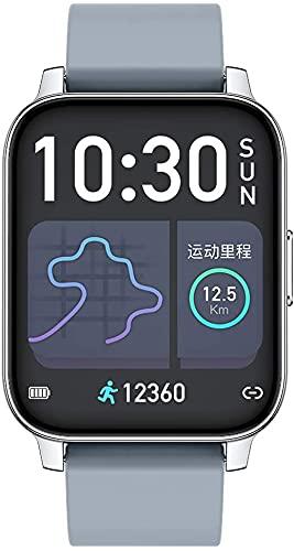 X&Z-XAOY Orologio Intelligente Full Touch da 1,69 Pollici Orologio da Polso Smartwatch Braccialetto Fitness Impermeabile Braccialetto Smartwatch per Uomini Donne Android iOS (Color : Gray)