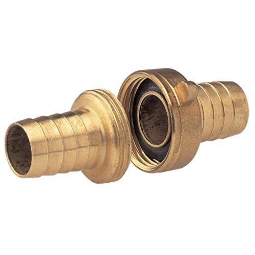 Gardena Messing-Schlauchverschraubung 3-teilig: Verschraubung zur Schlauchverlängerung, 33.3 mm (G 1 Zoll)-Gewinde, für 19 mm (3/4 Zoll)-Schläuche (7152-20)