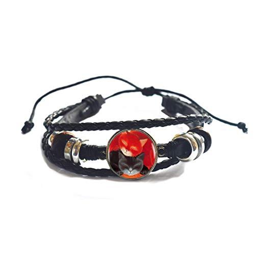 Pulsera para mujer, color rojo y negro