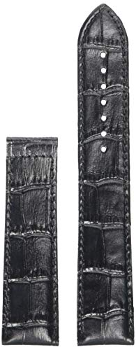 Tissot Leather Calfskin Black Watch XL Strap, 22mm Width (Model: T610033887)
