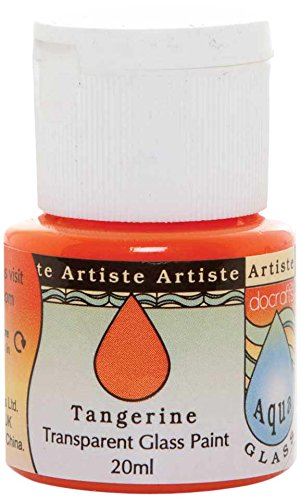 Artiste - Flacone di Vernice Trasparente per Vetro, 20 ml, Serie Aquaglass, Colore: Mandarino