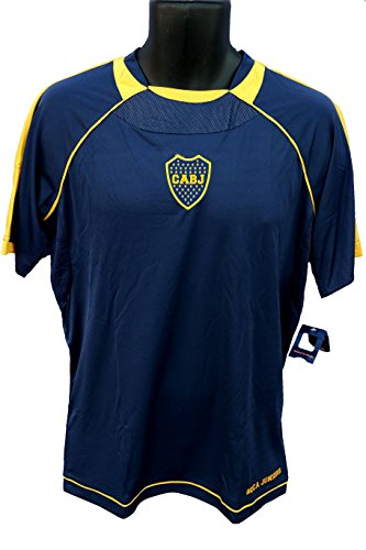 RHINOXGROUP Boca Juniors Officially Licensed Youth Soccer Training Performance Poly Jersey 002 Youth Size YM