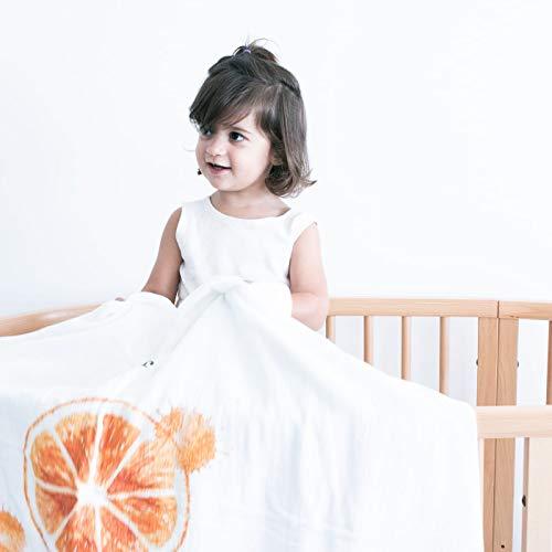 Flufi Fruta Laranja Quatro Camadas de Algodão, Coisas de Nine, Branco com Estampa Fruta Laranja, Único
