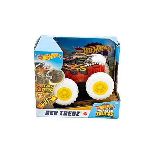 Mattel Hot Wheels GMB86 Monster Trucks Rev Tredz Mega Wrex - Coche de juguete para niños y coleccionistas