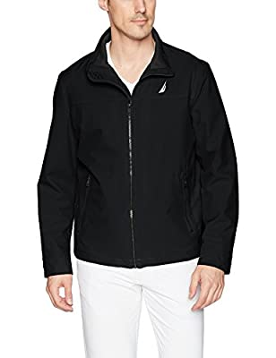 Nautica Men's Lightweight Stretch Golf Jacket, Deep Black, M by Nautica Men's Outerwear
