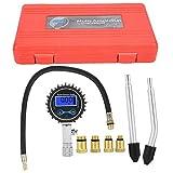 Caredy Kit Tester di Tenuta del Cilindro 3-200 PSI Kit di Test della Pressione del Carbura...