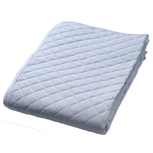 京都 西川 敷きパッド シングル クール ひんやり 接触冷感 洗える 清潔 爽やか ブルー 05606603 5MP-CS6824S