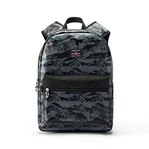 """17"""" Travel Laptop Backpack Water Resistant with USB Charging Port for Women & Men School College Students Backpack Fits 15.6"""",15"""",14"""" Laptop (Valley Mountain Pattern-Grey)"""
